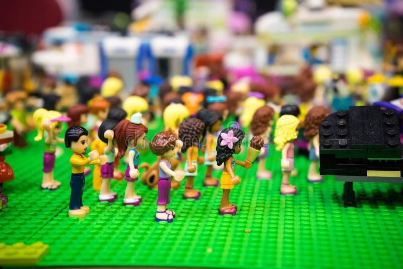 Lego de la sesión de los aeróbicos imagenes de archivo
