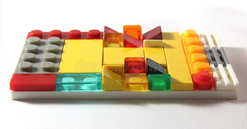 Lego del tablero del esquema del constructor del juguete fotos de archivo