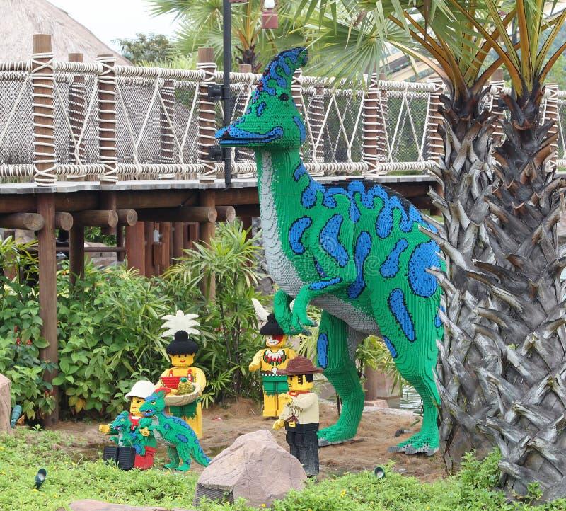 Lego Dinossur σε Legoland στοκ εικόνες με δικαίωμα ελεύθερης χρήσης