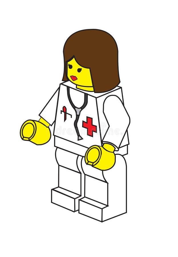Lego doktor royaltyfri illustrationer