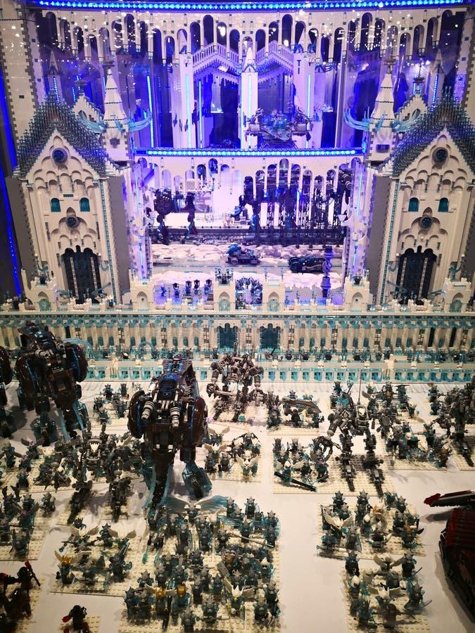 Lego Exhibition Invasion de Giants foto de archivo