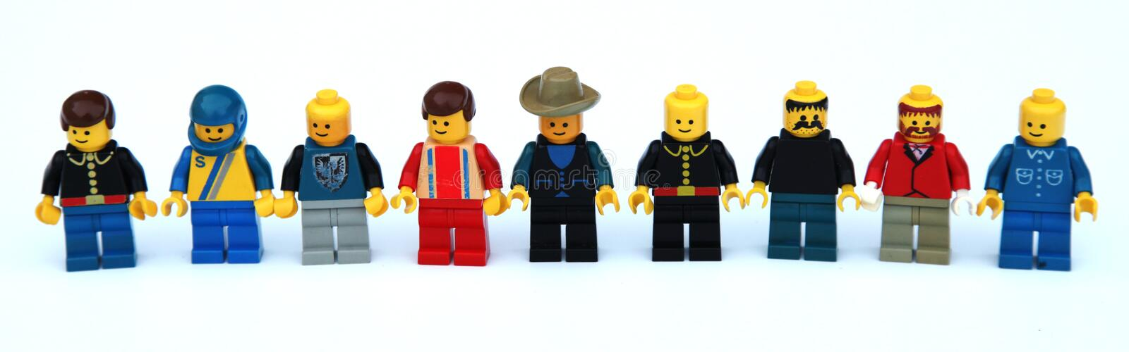 Lego figurines royaltyfria bilder