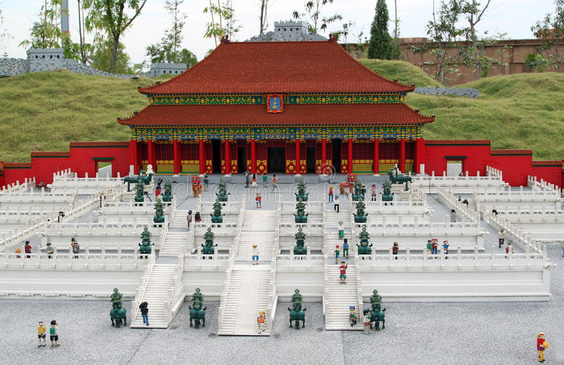 Lego Forbidden City in Legoland stock afbeelding