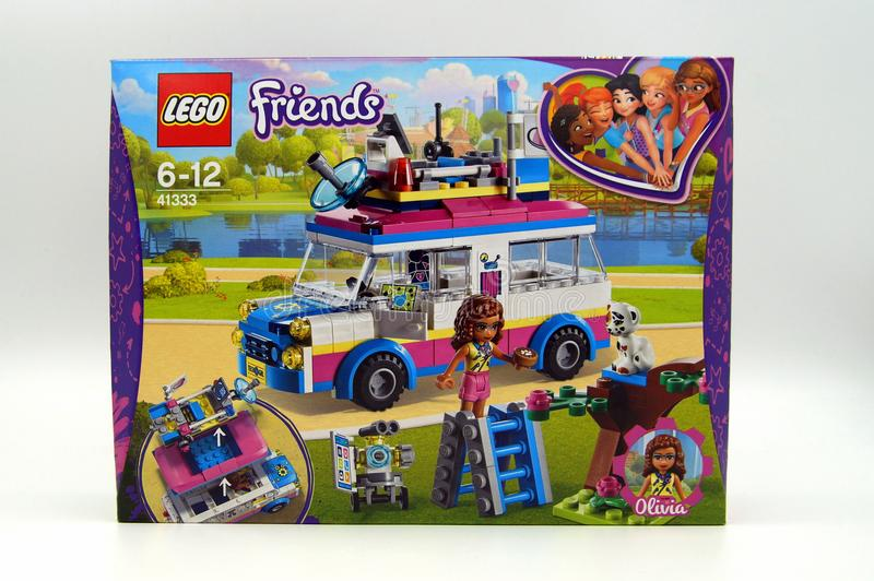 Lego Friends Olivia`s Mission Vehicle stock photography