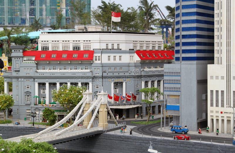 Lego Fullerton Сингапура на Legoland стоковая фотография