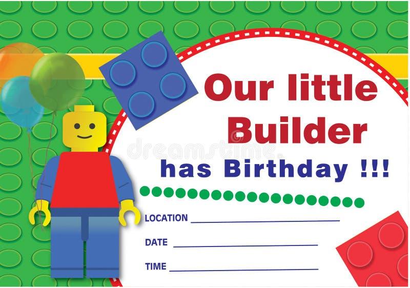 Geburtstagseinladung lego