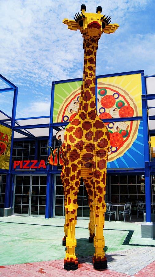 Lego Giraffe Animal fotografie stock