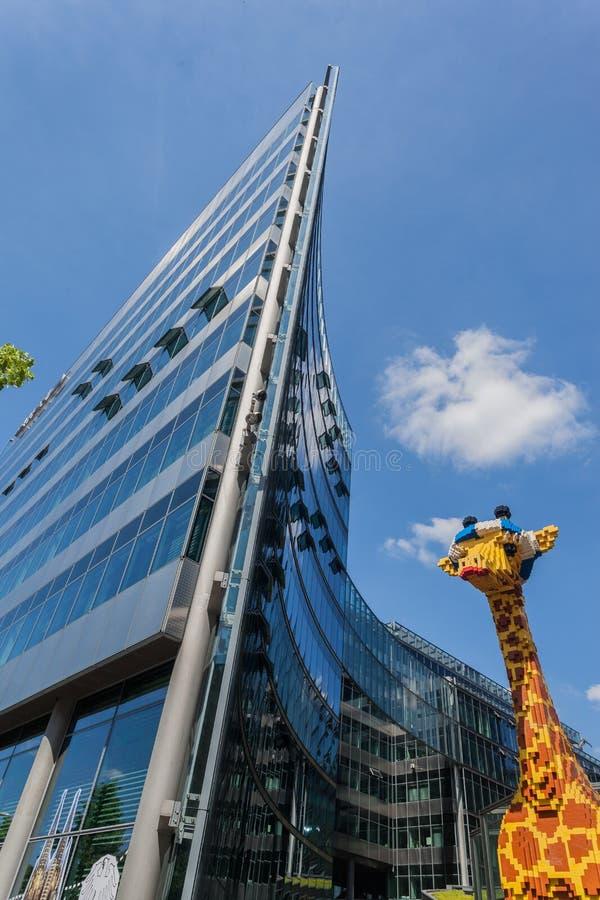 Lego Giraffe Berlin Germany immagine stock libera da diritti