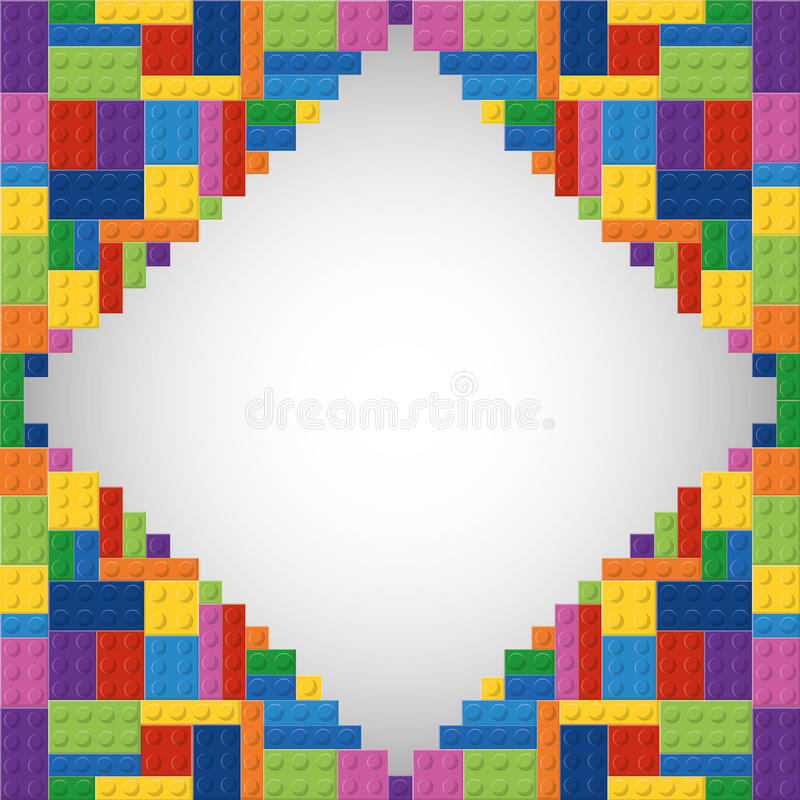 Lego icon. Abstract frame figure. Vector graphic royalty free illustration