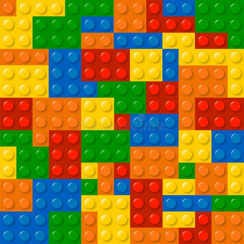 Lego kvarter stock illustrationer
