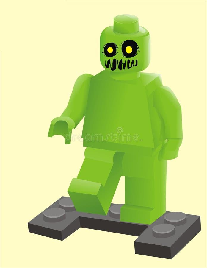Lego levande död stock illustrationer
