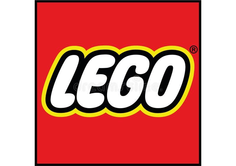 Lego loga wektor ilustracja wektor
