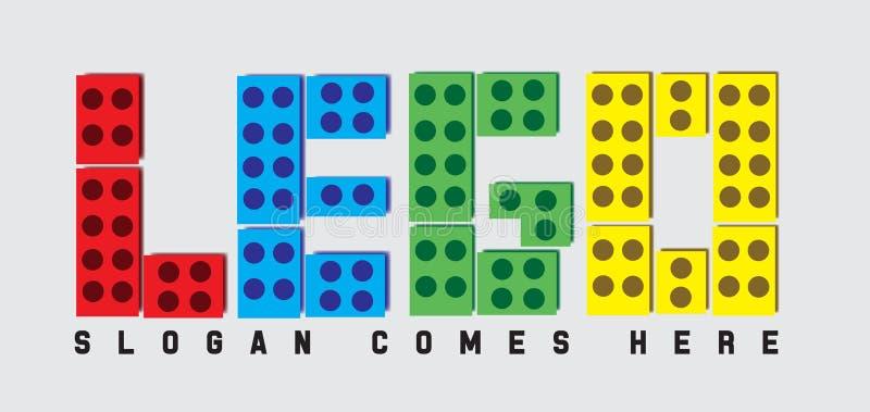 Lego logo vektor illustrationer