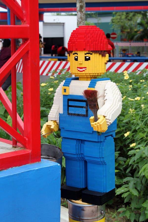 Lego malarza chłopiec przy Legoland fotografia royalty free