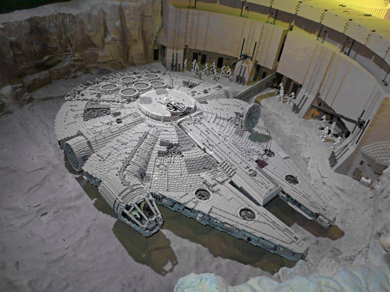 Lego Millennium Falcon space ship royalty free stock photography