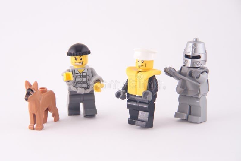Lego Mini Figures stock images