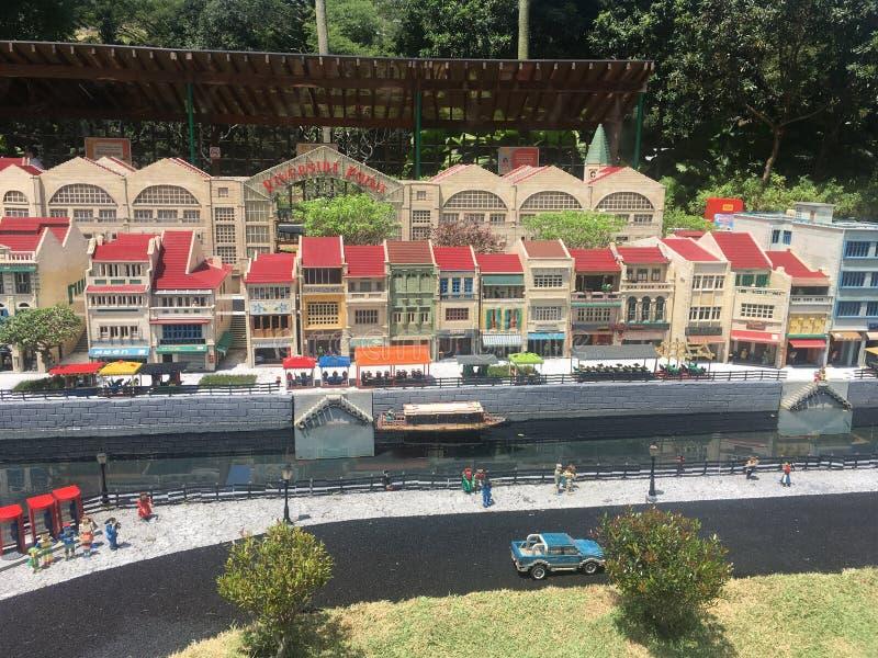 Lego-Miniatur bei Legoland Malaysia stockbilder