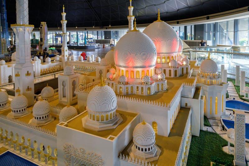 Lego miniatura Sheikh Zayed Uroczysty meczet w Miniland Legoland zdjęcie royalty free