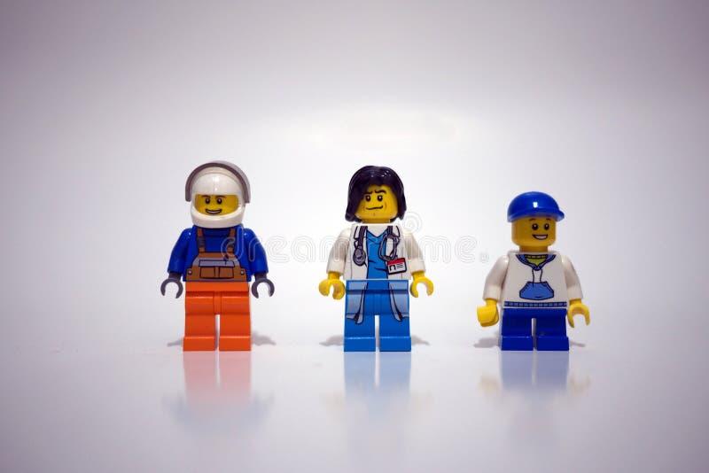 Lego Minifigures immagini stock