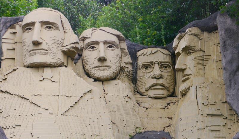 Lego Mount Rushmore stock photos