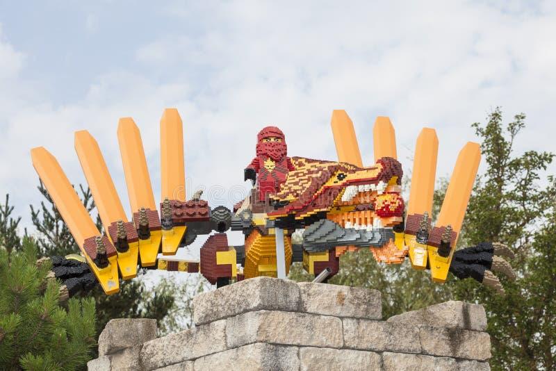 Lego Ninjago på den Legoland Tyskland fotografering för bildbyråer