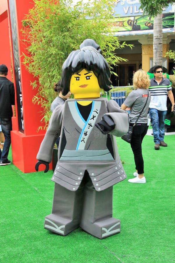 LEGO Ninjago-premièretapijt stock fotografie