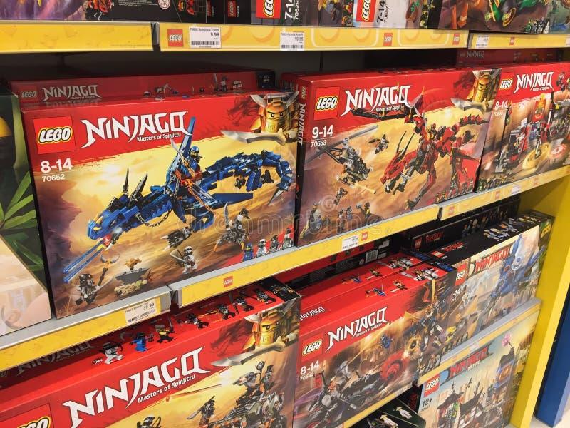 Lego Ninjago zabawki obrazy royalty free