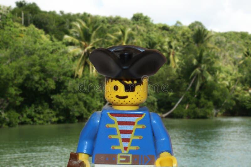 Lego piratkopierar royaltyfri foto