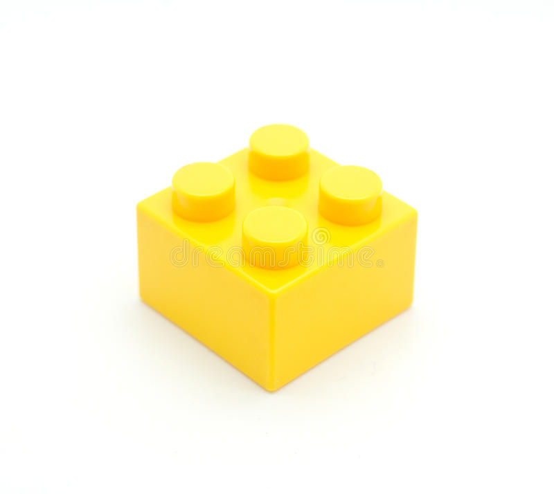 Lego Plastic building block. S on white background royalty free stock photography