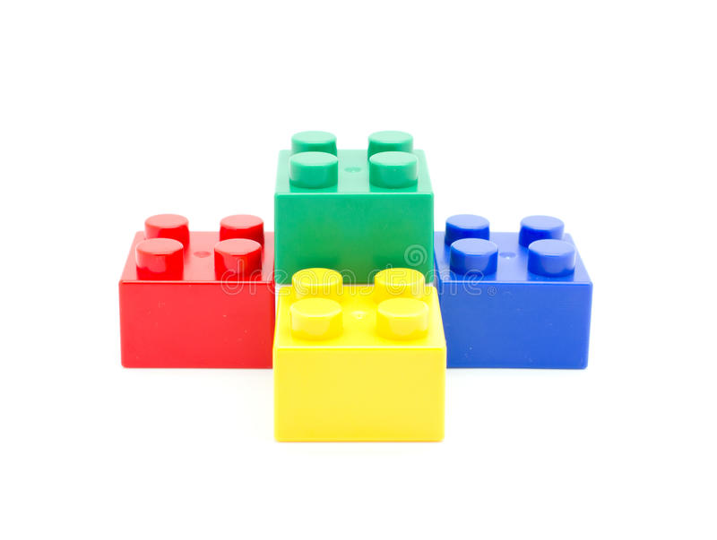 Lego Plastic building block. S on white background royalty free stock photos