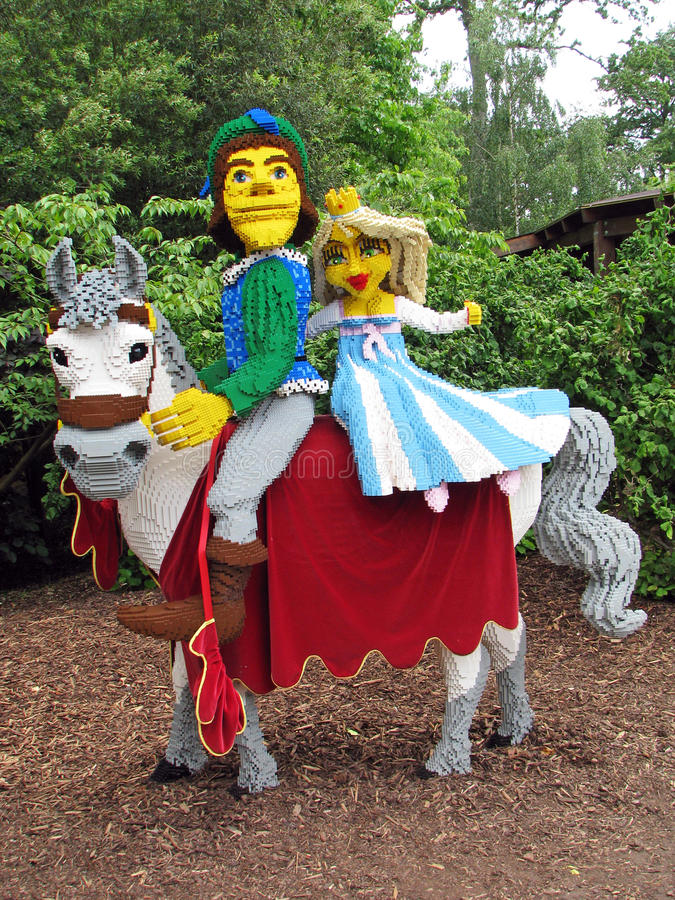 Lego Prince and Pricncess royalty free stock image
