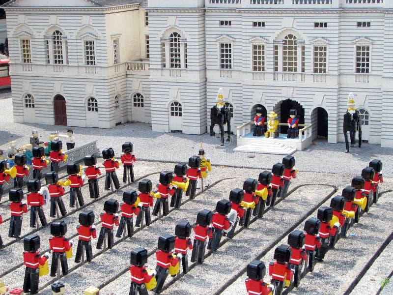 Lego Royal Guarda and the Queen royalty free stock photos