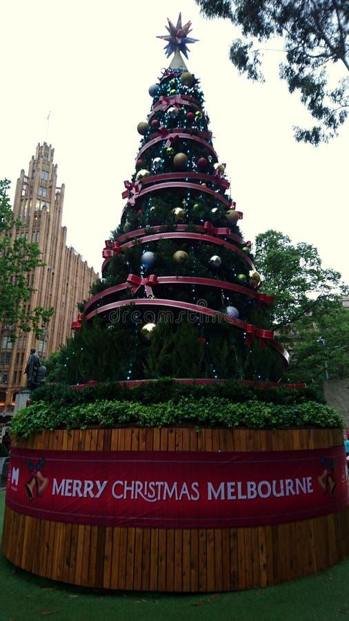 Lego Santa Federation Square Melbourne imagem de stock royalty free