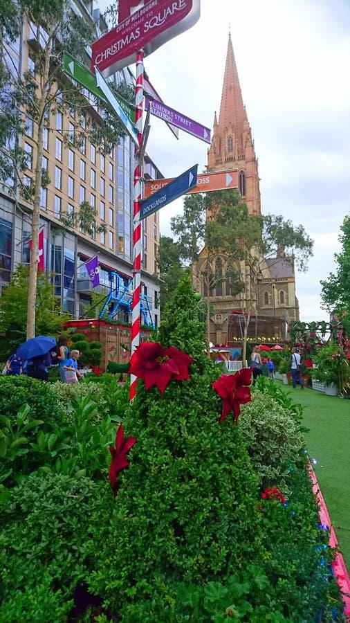 Lego Santa Federation Square Melbourne foto de stock royalty free