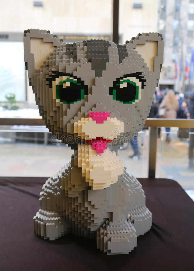 Lego Sculpture In Lego Store In Manhattan Editorial Stock