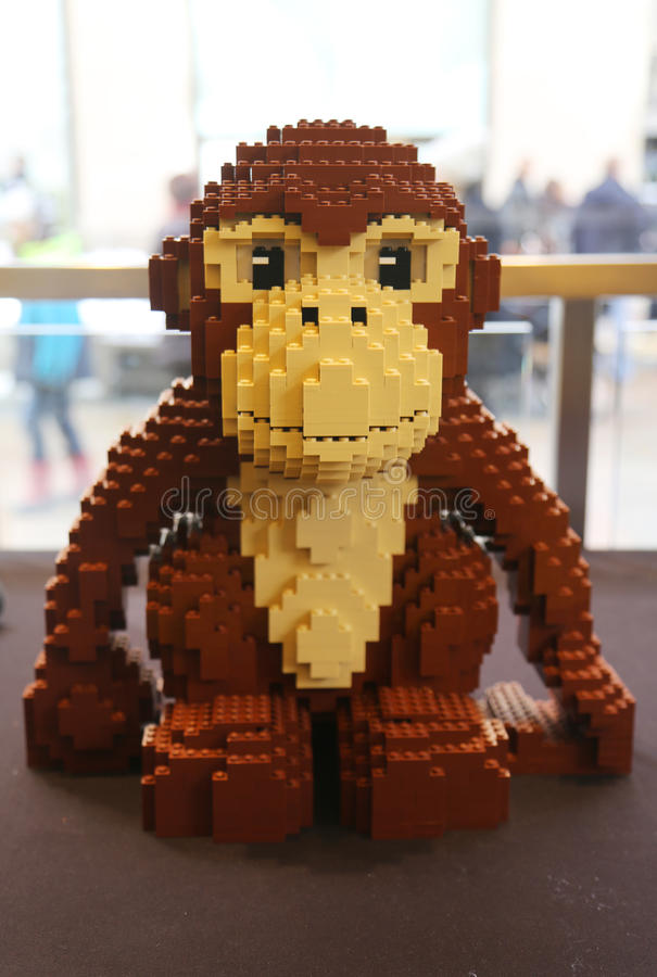 Lego Sculpture In Lego Store In Manhattan Editorial