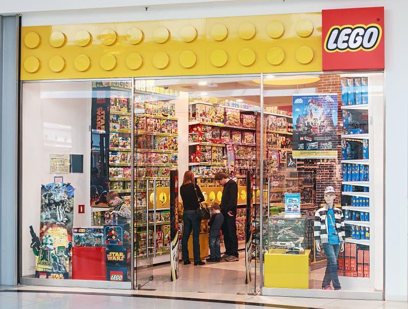 LEGO Shop bij de wandelgalerijmetropool royalty-vrije stock afbeeldingen