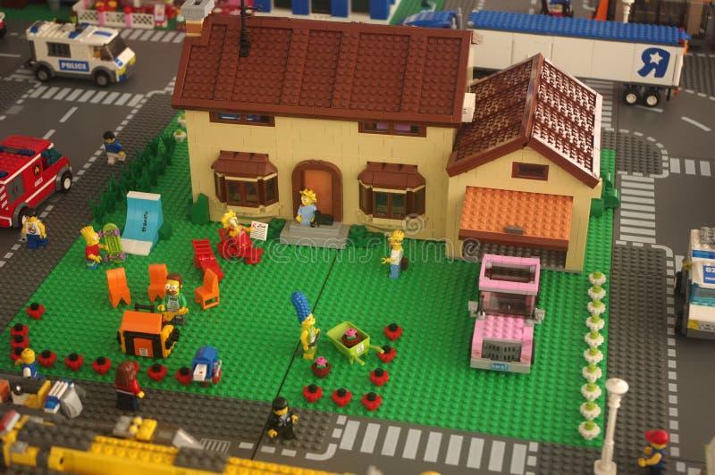 Lego Simpsons fotos de stock royalty free