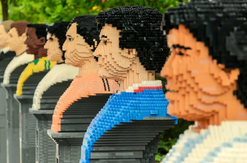 Lego Skulptur stockbilder