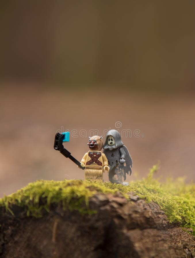 Lego Star Wars minifigures tusken rider ghost royalty free stock photos