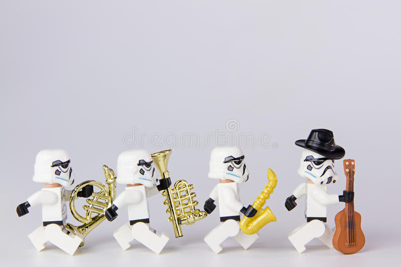 Lego star wars musician. royalty free stock images