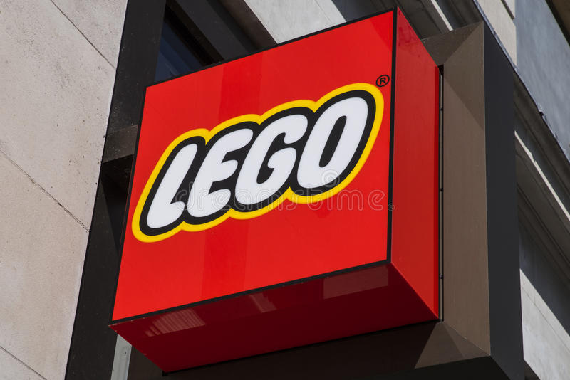 Lego Store Sign stock foto