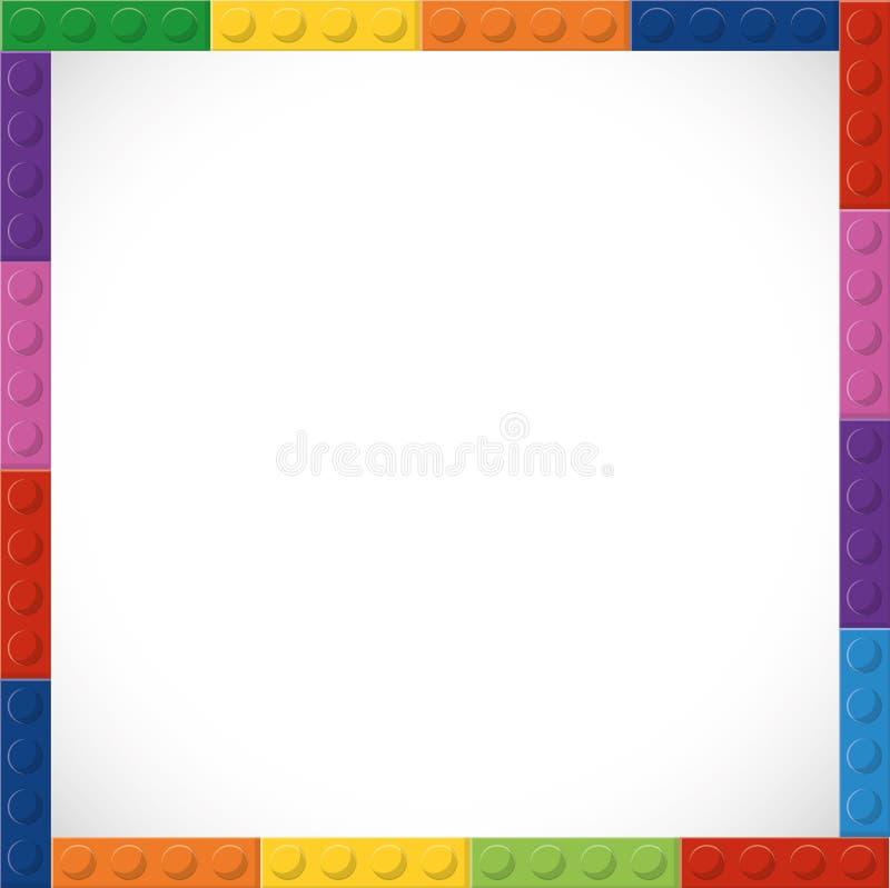 Lego symbol Abstrakt ramdiagram som stylized swirlvektorn för bakgrund det dekorativa diagrammet vågr royaltyfri illustrationer