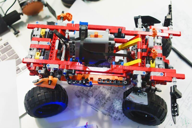 Lego technic konstruktora mechatronics breadboard obrazy royalty free