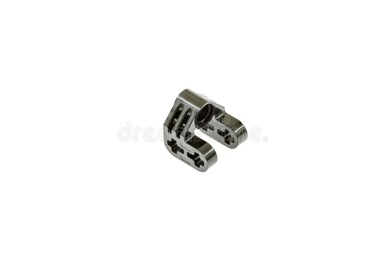 Lego technic piece. Special lego technic piece on a white background stock photos