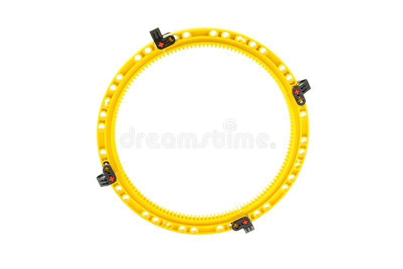 Lego technic piece. Special lego technic piece on a white background stock images