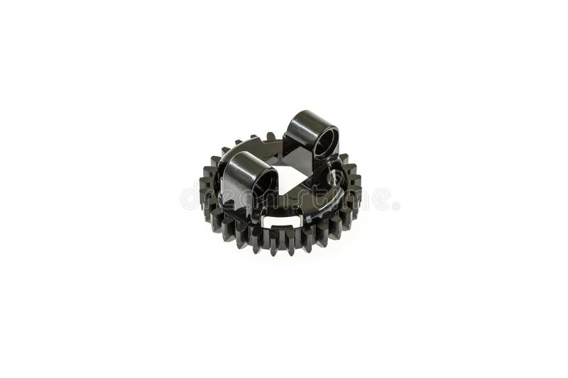 Lego technic piece. Special lego technic piece on a white background stock image