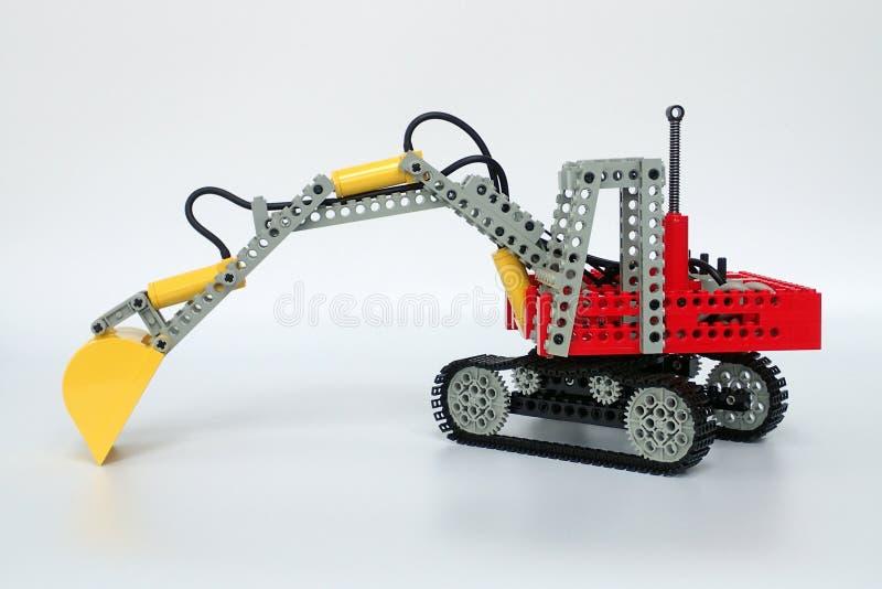 Lego Technic plaatste nr 8851, Graafwerktuig stock foto's