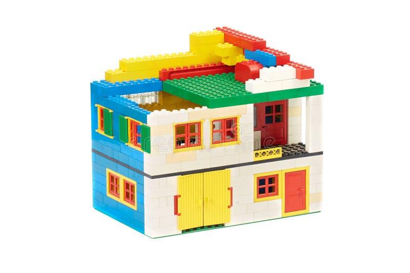 Lego tegelstenhus royaltyfri bild