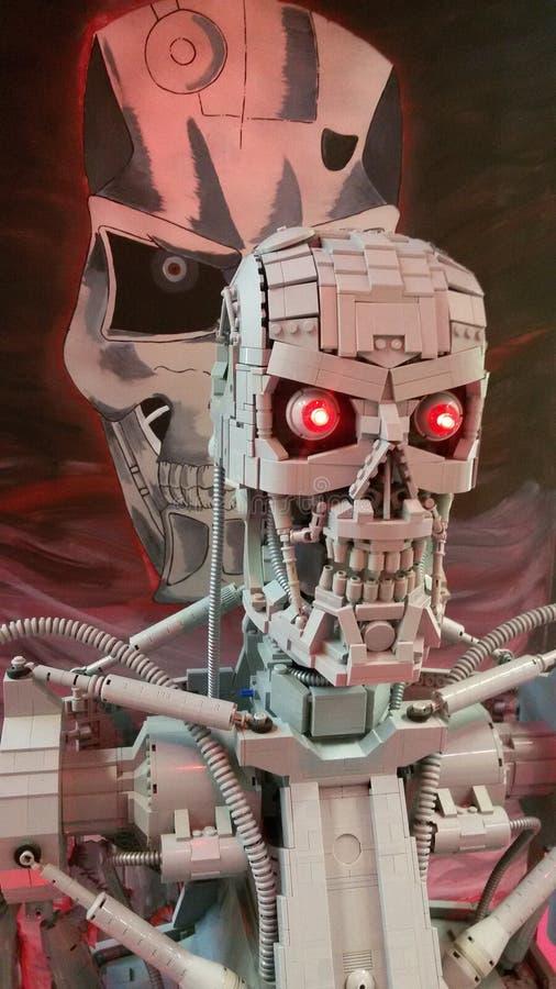 Lego Terminator royaltyfria bilder